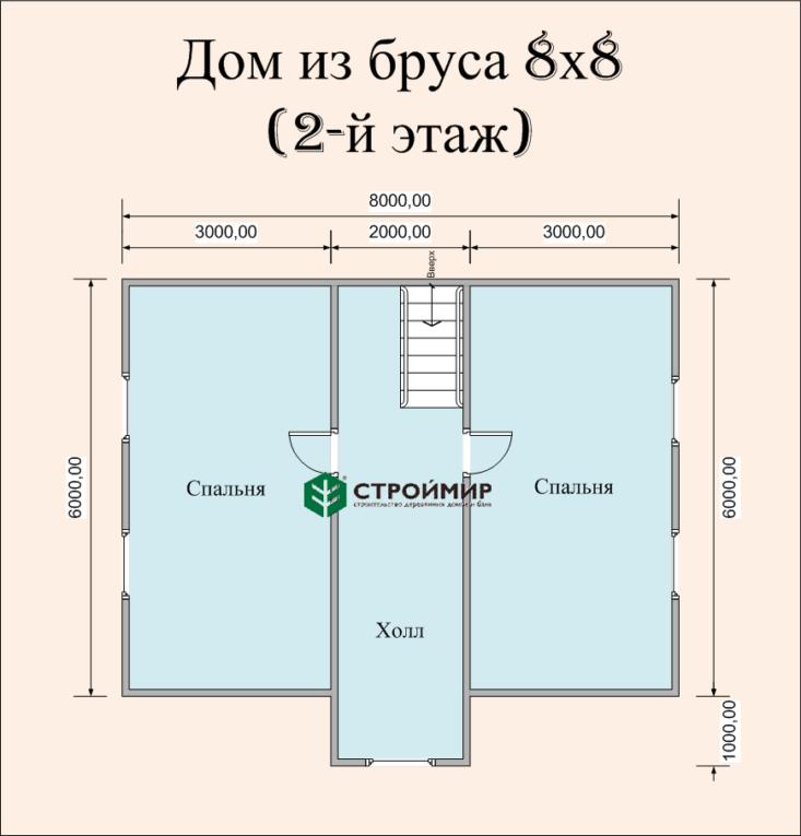 Дом 8х8 с мансардой (Д-62)