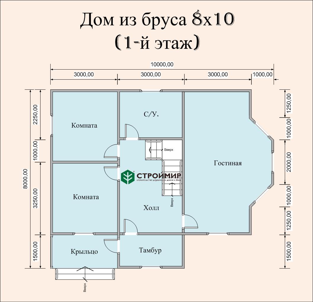 Дом 8х10  (проект Д-68)