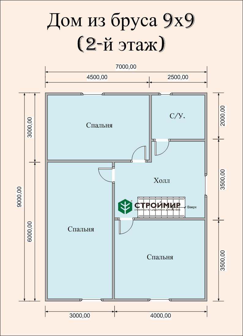 Проект дома в полтора этажа с террасой ( проект Д-74)