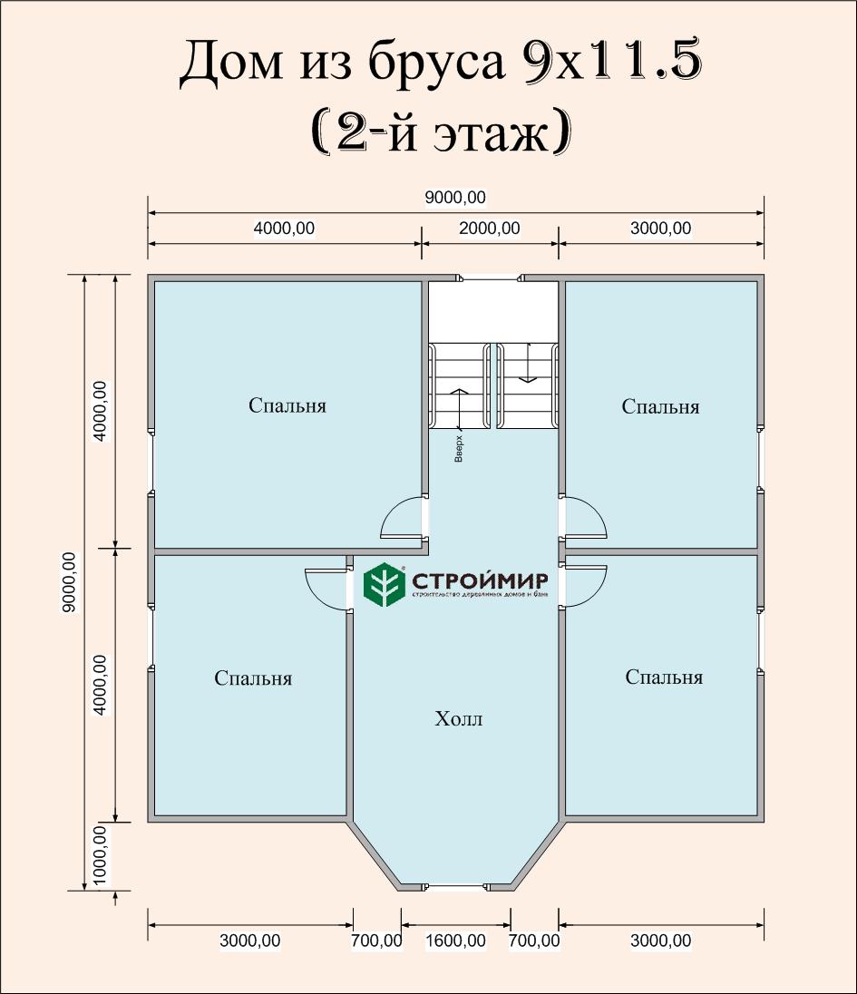 Дом 9х11,5 с эркером (проект Д-75)