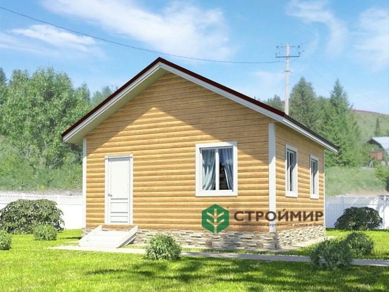 Одноэтажный каркасный дом 6х6, проект К-50