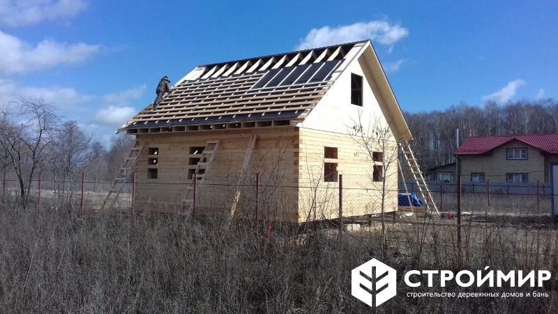 строительство дома под усадку из бруса