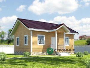 Каркасный дом 6х8, проект К-52