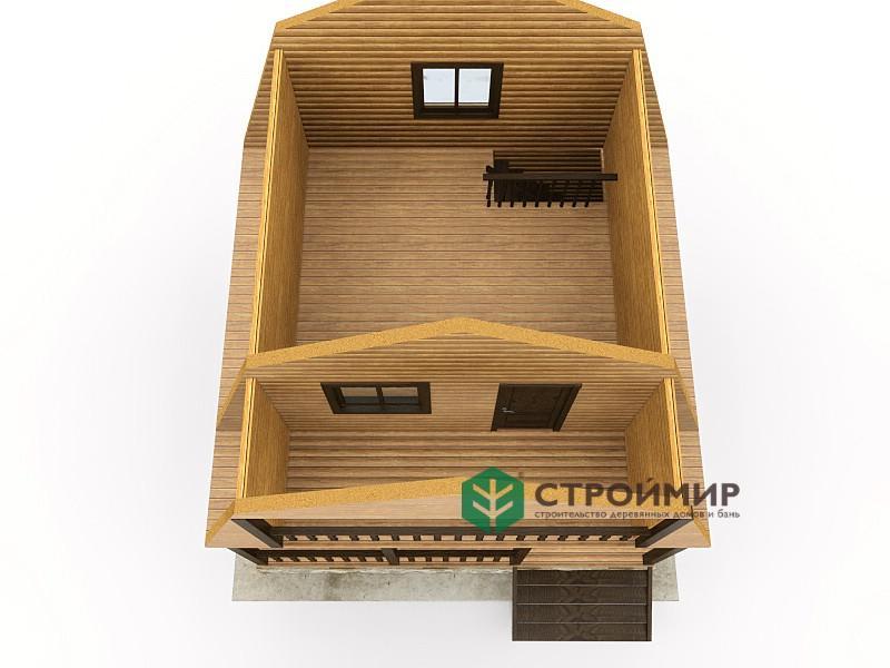 Каркасный дом 6х6, проект К-18