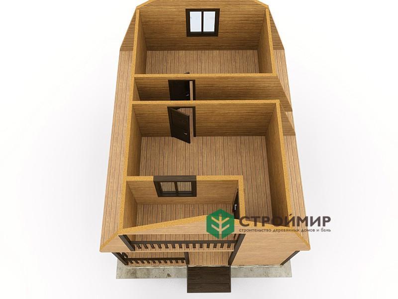 Каркасный дом 6х8, проект К-19