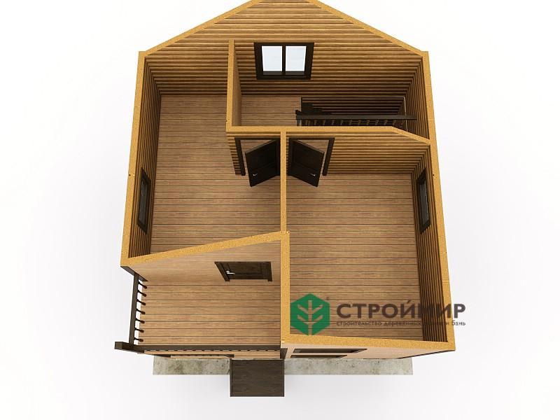 Каркасный дом 6х6, проект К-124