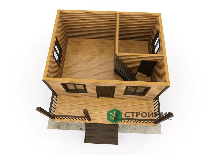 Каркасный дом 6х6, проект К-17