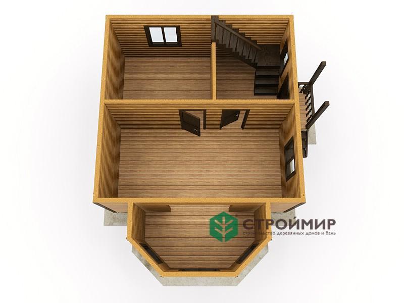 Каркасный дом 7х8, проект К-30