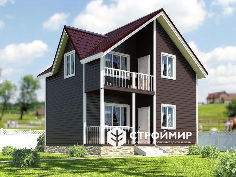 коричневый дом