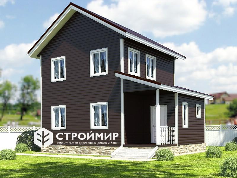 Каркасный  двухэтажный дом 6х8, проект К-136