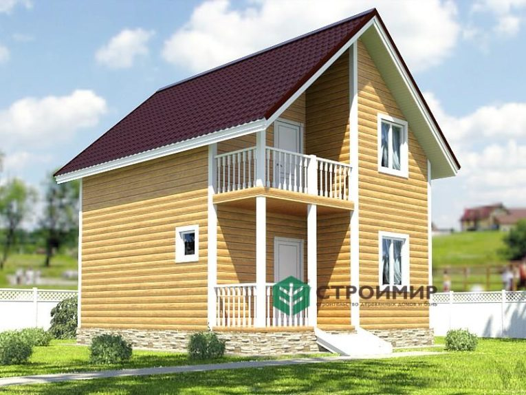 Каркасный дом 6х7, проект К-11