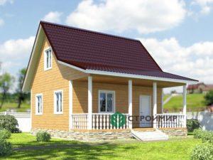 Каркасный дом 7х8, проект К-13