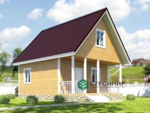 Каркасный дом 6х7, проект К-15