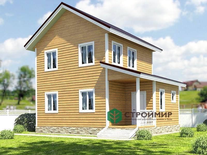 Каркасный  двухэтажный дом 6х8, проект К-20