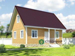 Каркасный дом 6х8, проект К-22