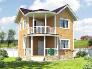 Каркасный дом 6,5х6,5, проект К-26