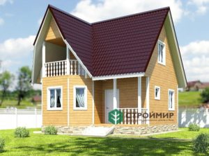 Каркасный дом 7х7, проект К-28