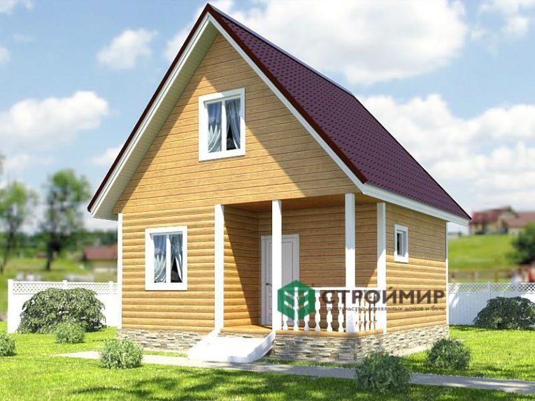 Каркасный дом 6х6, проект К-33