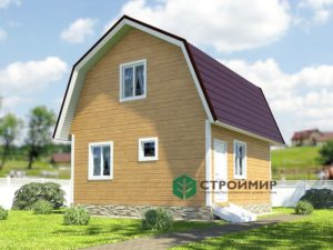 Каркасный дом 6х6, проект К-71