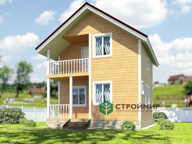 Каркасный дом 6х6, проект К-8