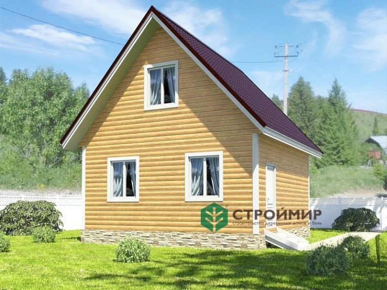 Каркасный дом 6х6, проект К-72