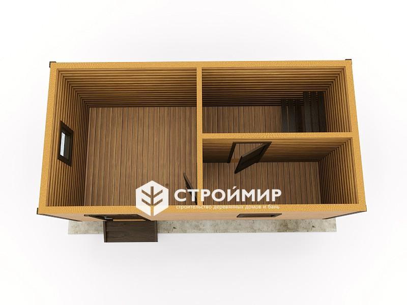 Баня 6х3 из бруса под ключ, цена, проект