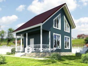 Каркасный дом 6х7,5, проект К-16