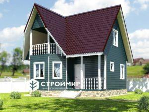 Каркасный дом 7х7 под ключ, проект К-28