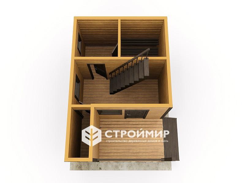 Баня 6х4 с мансардой двухэтажная
