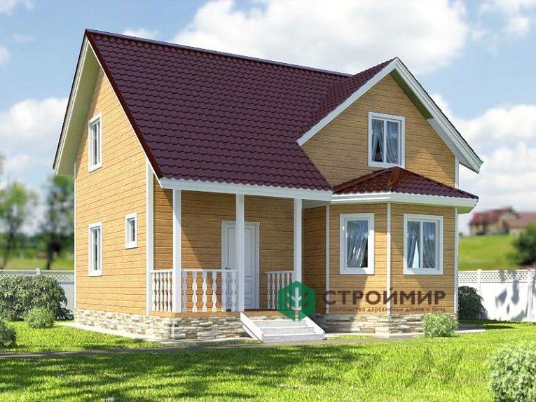 Каркасный дом 8х9 для зимнего проживания, проект К-40