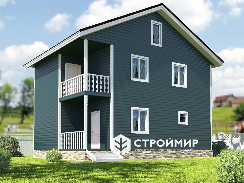 Двухэтажный каркасный дом 7х9, проект К-36