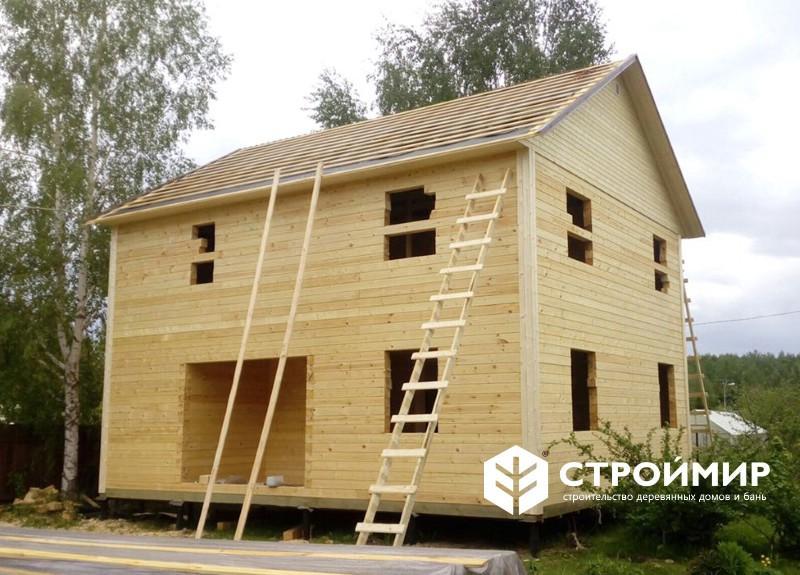 Дом из бруса в 2 этажа