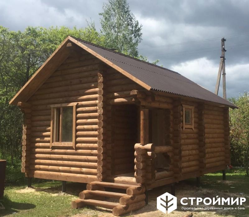 Русская баня из бревна