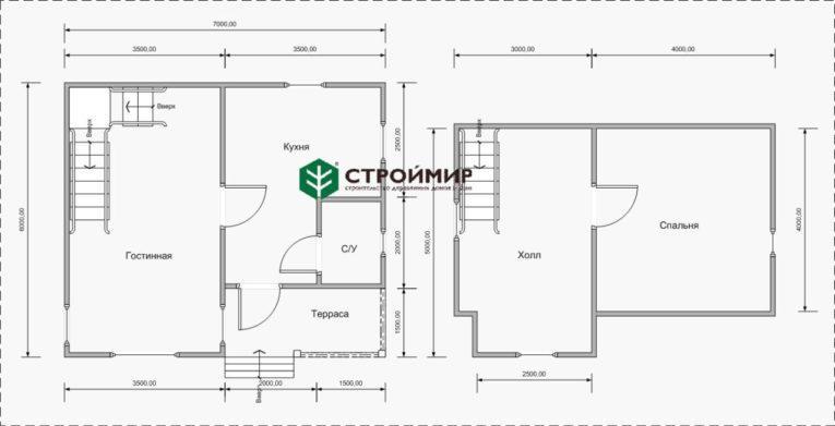 планировка дома в Карелии
