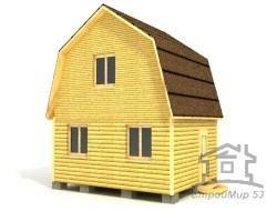 Дом из бруса 5х4 по проекту (Д-22)