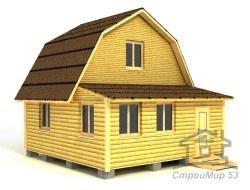 Дом из бруса 6х6 по проекту (Д-27)
