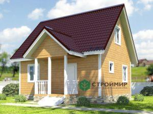 Каркасный дом 6х7, проект К-10