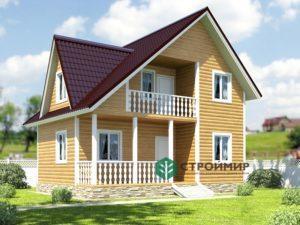 Проект каркасного дома К-21