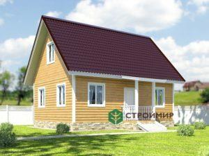 Проект каркасного дома 6х8 К-22