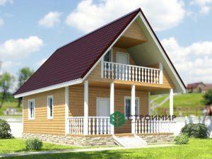 Каркасный дом 6х9, проект К-24