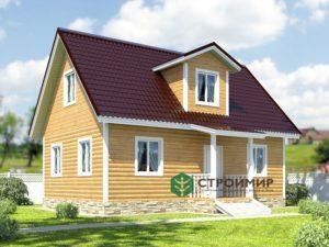 Каркасный дом 6х9, проект К-25
