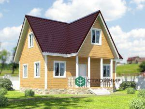 Проект каркасного дома 32