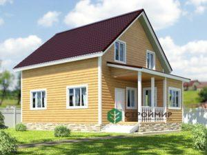Проект каркасного дома 34