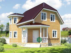 Проект каркасного дома 35