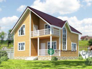 Проект каркасного дома 39