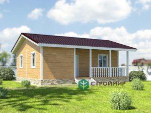 Проект каркасного дома К-4