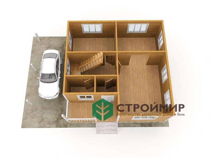 Каркасный дом 8х8, проект К-44