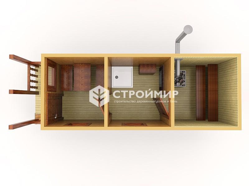 Готовая баня 7х2 с террасой