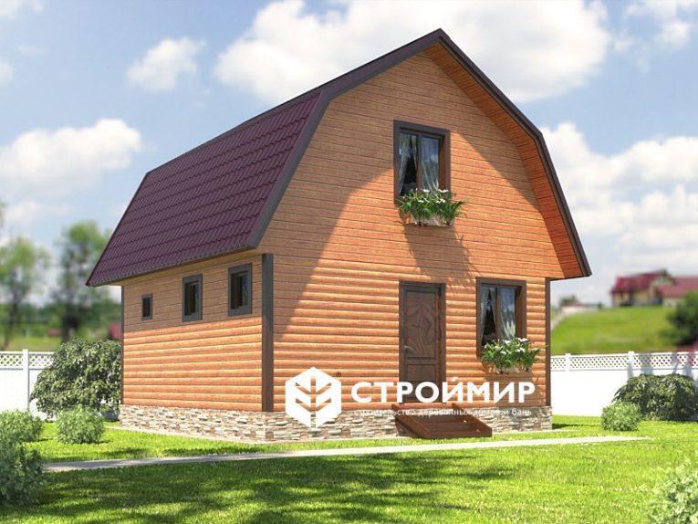 Баня с ломаной крышей 6х6 (Проект Б-50)