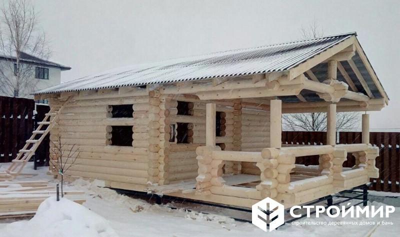 Строительство сруба бани под крышу